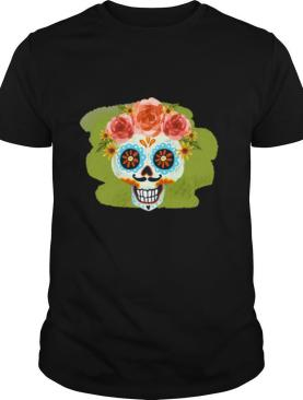 Skull Day Of The Dead In Mexican shirt