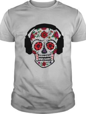Skull With Headphones Day Of Dead shirt