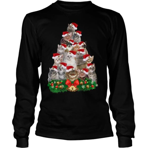 Cats Tree Merry Christmas shirt