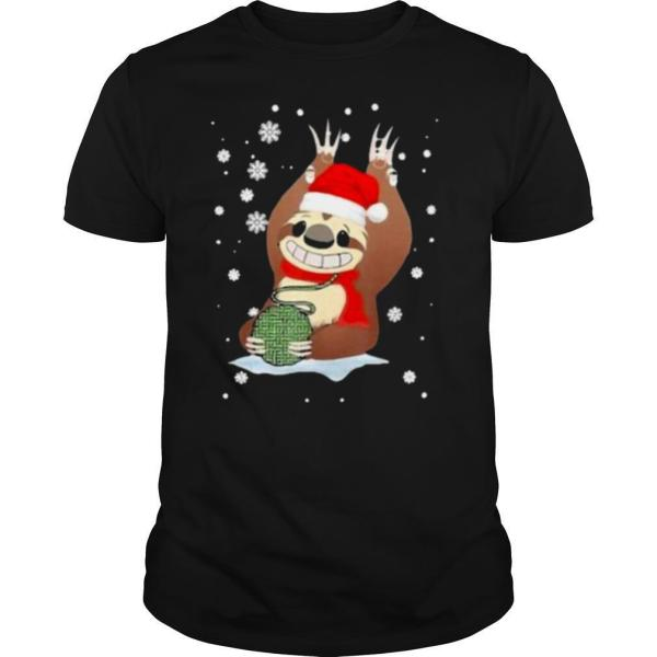 Sloth Santa Crochet shirt