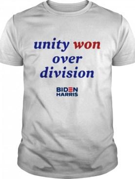 Unity won over division biden harris shirt