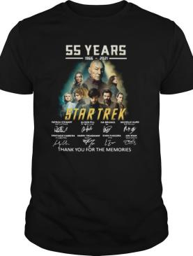 55 years 1966 2021 Star Trek thank you for the memories signatures shirt