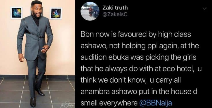 BBNaija 2019: Man accuses Ebuka of picking girls he slept with as housemates