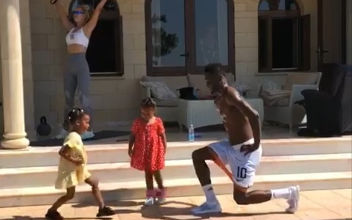 Mikel Obi Works Out With His Wife And Kids After Retiring From Super Eagles