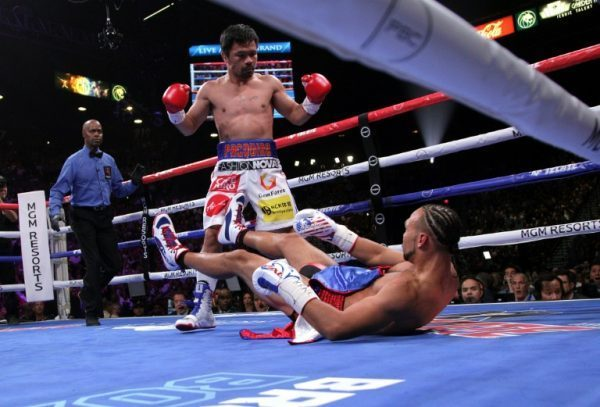 Manny Pacquiao Becomes Oldest Welterweight Champion After Beating Thurman