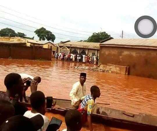 Sokoto Residents Resort To Using Canoes For Transportation After Heavy Downpour (Photos