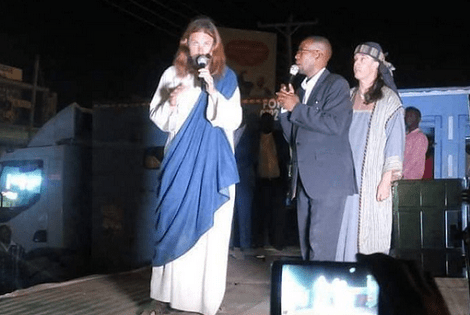 Kenyan pastor claims to have found Jesus, takes him to his church to meet his congregation (photo