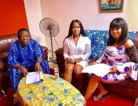 Cee-C Makes Her Nollywood Debut With Nkem Owoh, Broda Shaggi & Others (Photos)