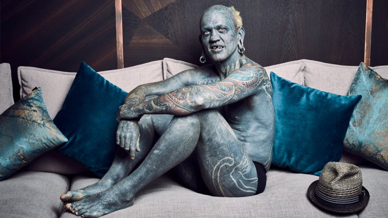 'I'm no different to anyone else' – meet Lucky Diamond Rich, the world's most tattooed man