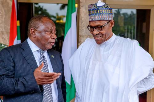 Buhari, Ramaphosa To Hold Talks On Wednesday In South Africa