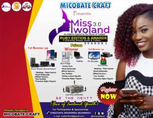 Miss Iwoland 2019/2020 Registration Forms Out