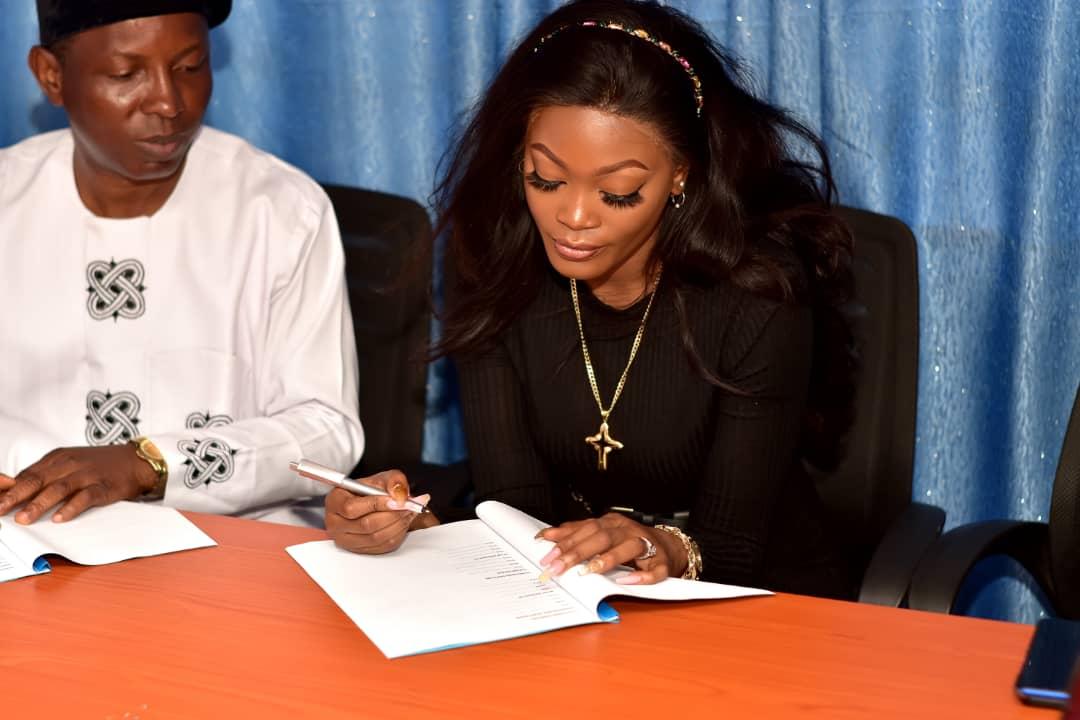 Adeaga Bukunmi, Popularly known as KIEKIE, got a Multi-Million Naira Ambassadorial endorsement.
