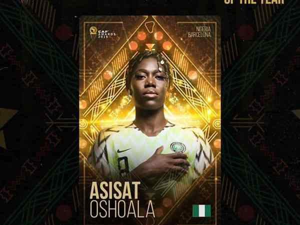 Nigeria's Asisat Oshoala Wins 2019 African Women's Player Of The Year Awards