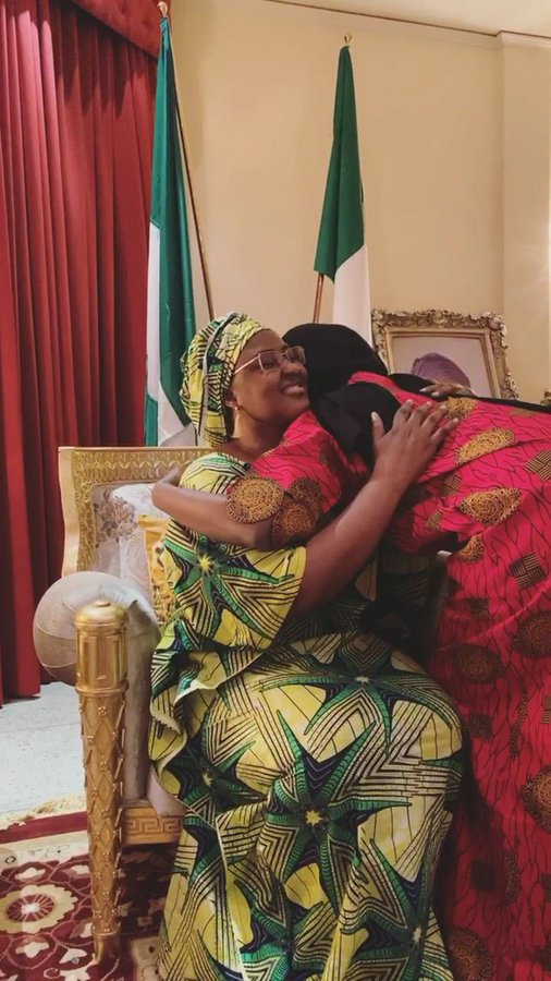 Aisha Buhari Is Thankful As She Reunites With Daughter After 2 Weeks Of Self-Isolation