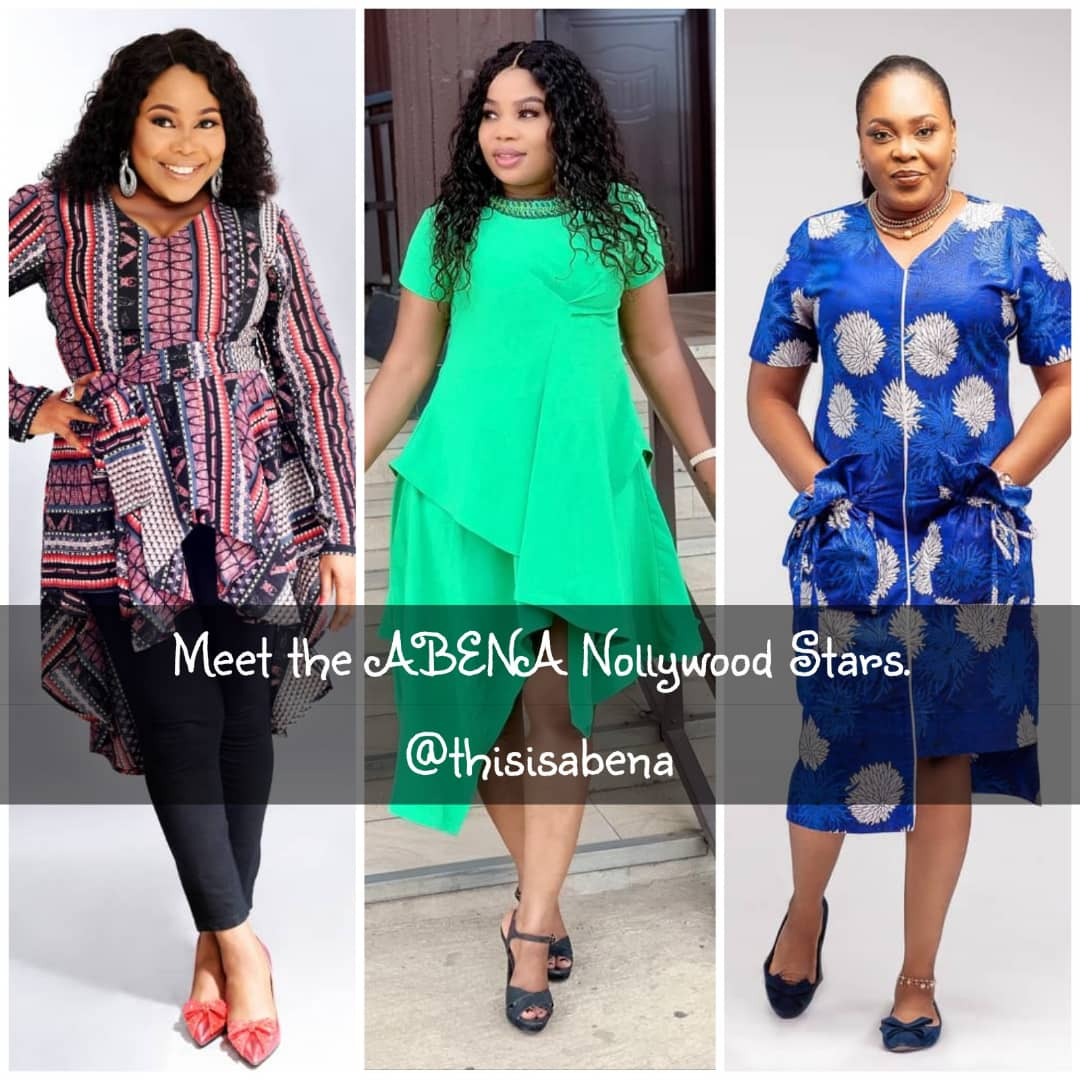 Meet The Three Nollywood Stars that Look Fabulous in their ABENA outfits