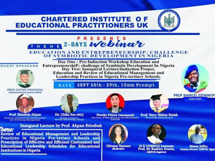 Dr. Marcel Ezenwoye, Prof. Satish Visavadia & More to Speak at the CIEPUK Virtual Induction Ceremony| September 28th – 29th