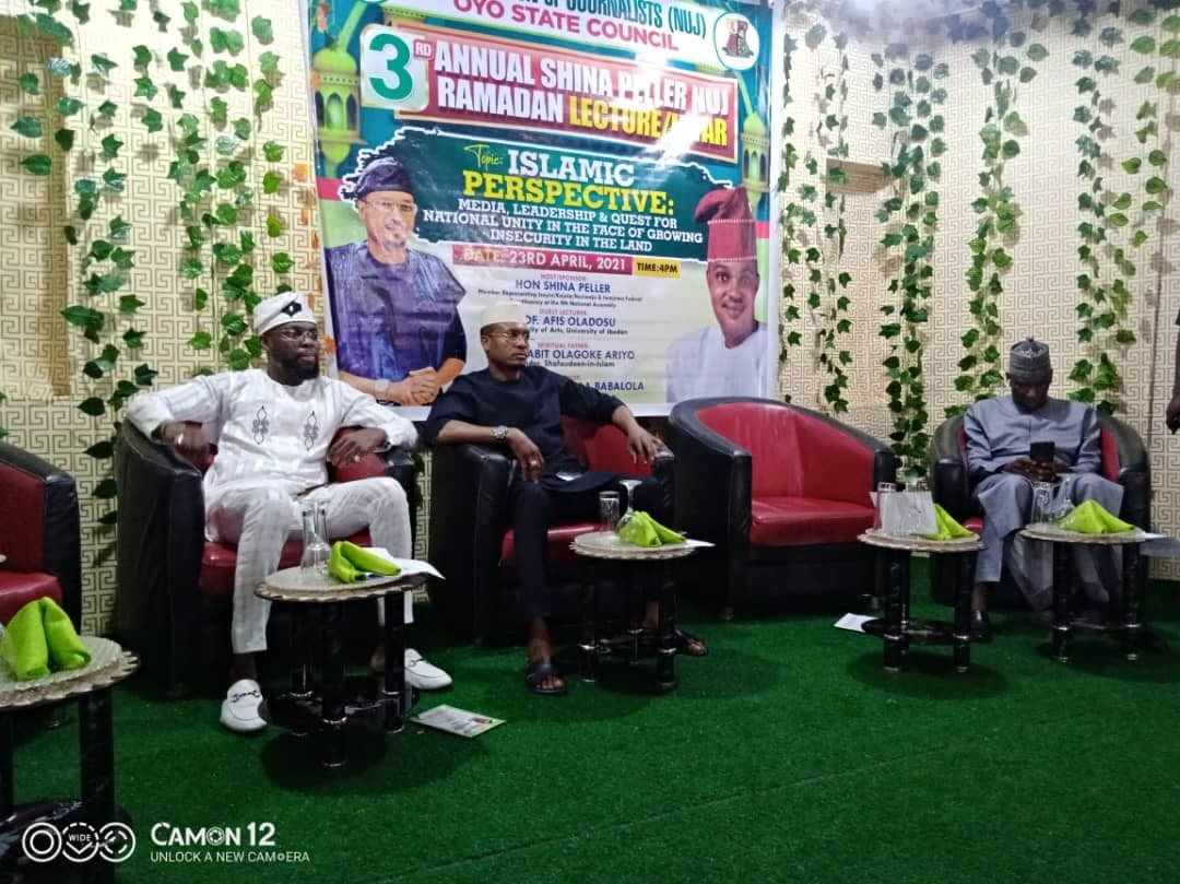 """""""Promote peace, not violence,"""" Peller urges journalists as he hosts 3rd Annual NUJ Ramadan Lecture, Iftar"""