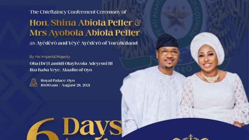 All set for Shina Peller as he becomes Ayedero of Yorubaland on Saturday