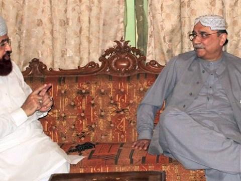 asif zardari with hamid saeed kazmi