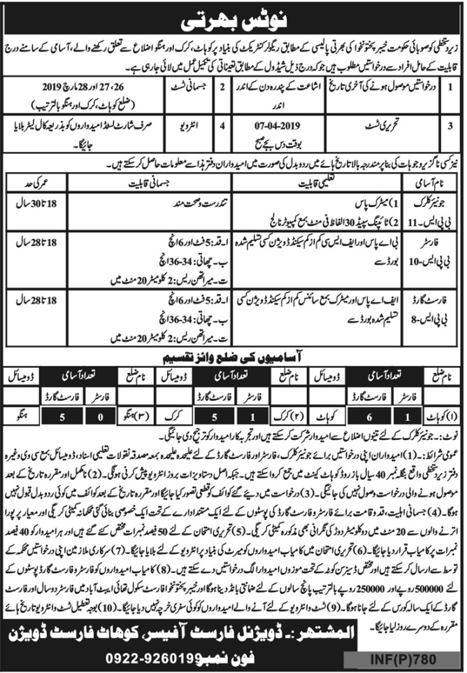 Jobs in Forest Department 2019