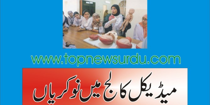 Jobs in medical college 2019