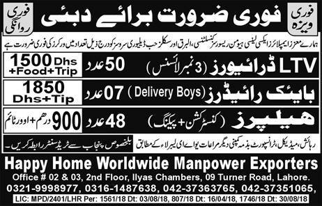 jobs in Dubai 2018