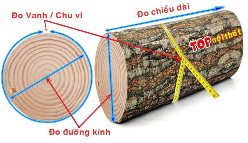 Cách đo và tính mét khối gỗ tròn