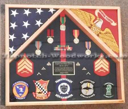 2 Flag Military Shadow Box By Topnotch Woodworks