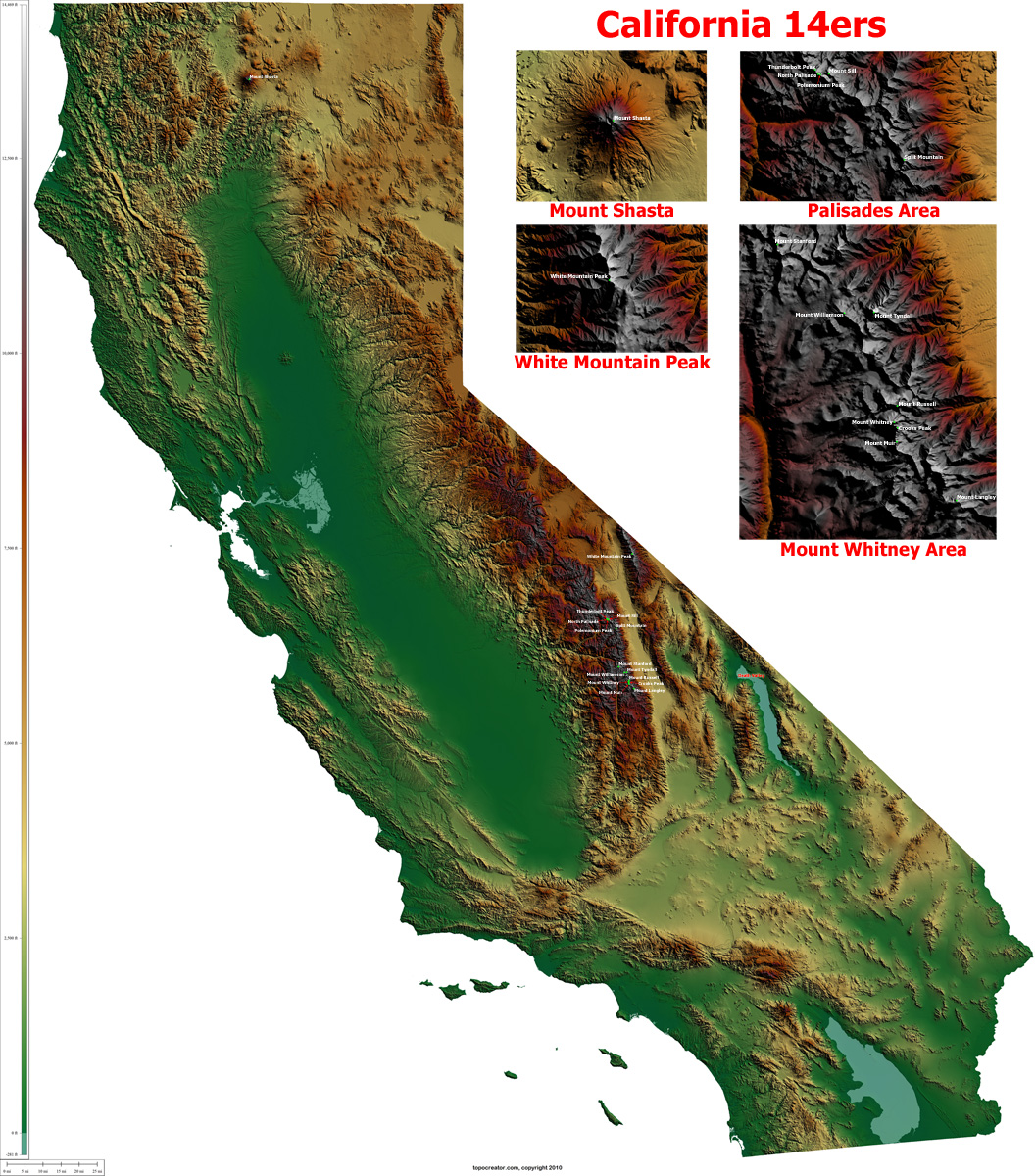 California Topographic
