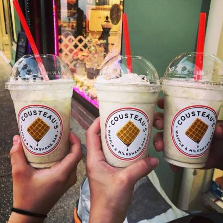 Cousteau's Waffle and Milkshake Bar in downtown St. Augustine offers a variety of gourmet Belgian waffles with delicious toppings and creamy, rich milkshakes as well as espresso and waffle bites.