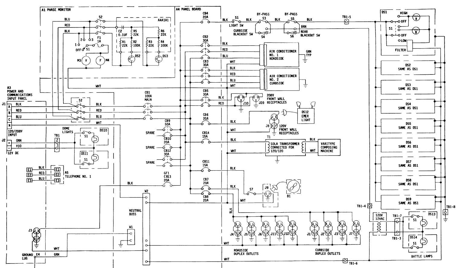 Fo 7 Drafting Support Section Electrical Schematic