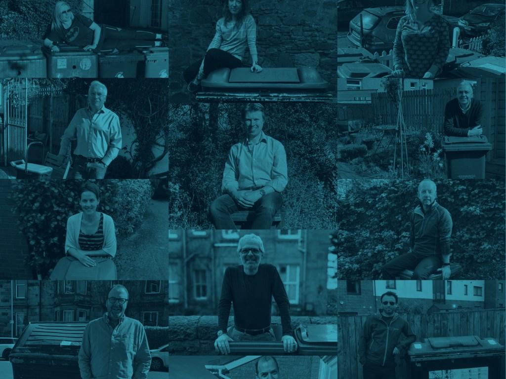 Collage of Topolytics employees