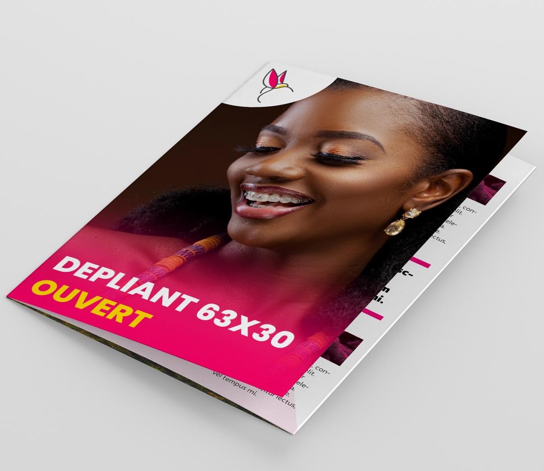 Impression dépliant 63x30 Dakar Senegal
