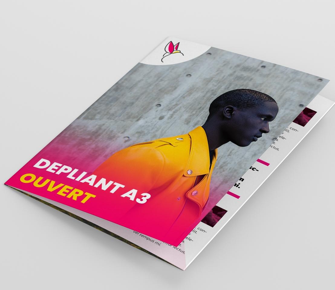 Impression dépliant A3 Dakar Senegal