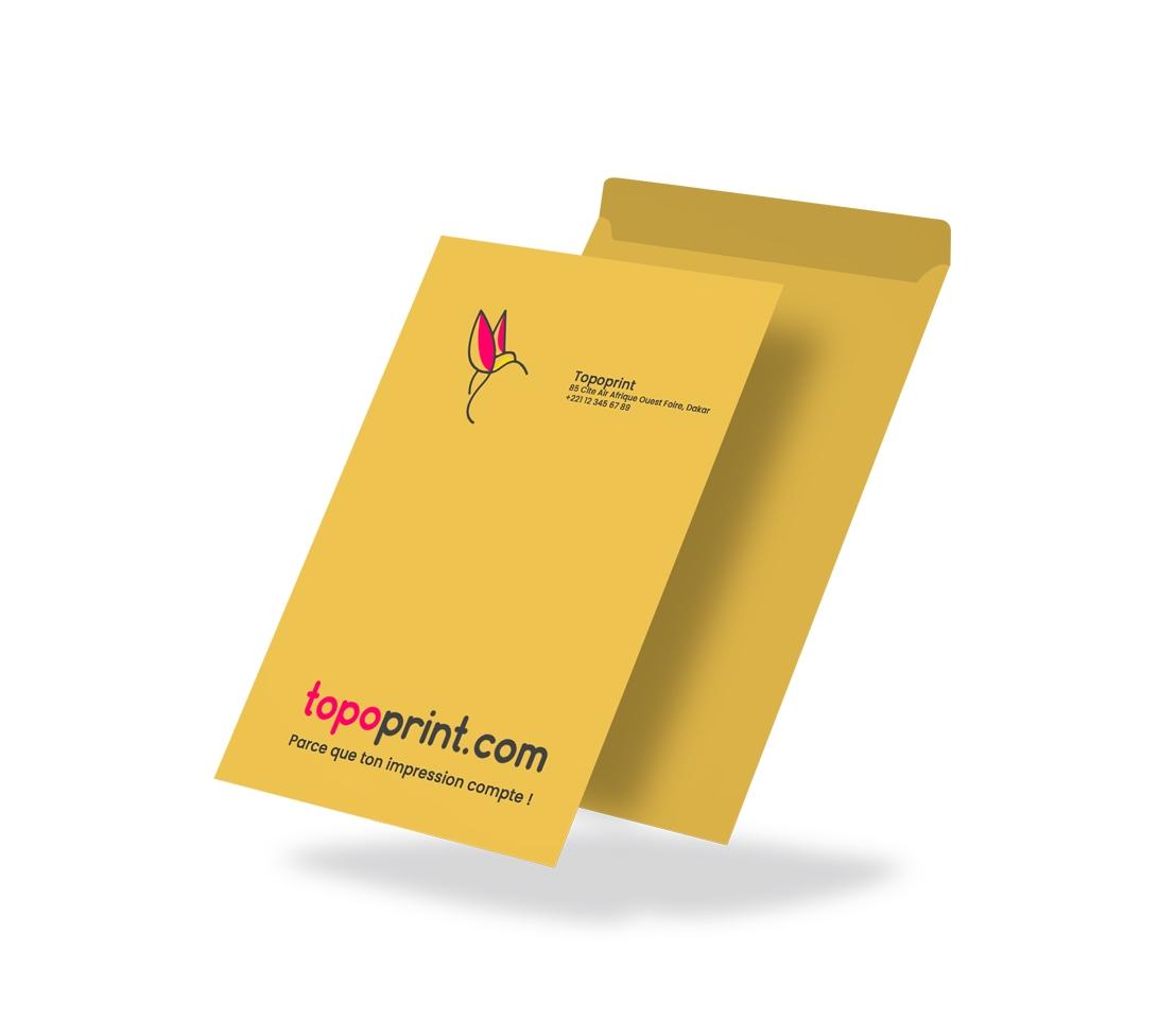 Impression enveloppe A4 Dakar Senegal