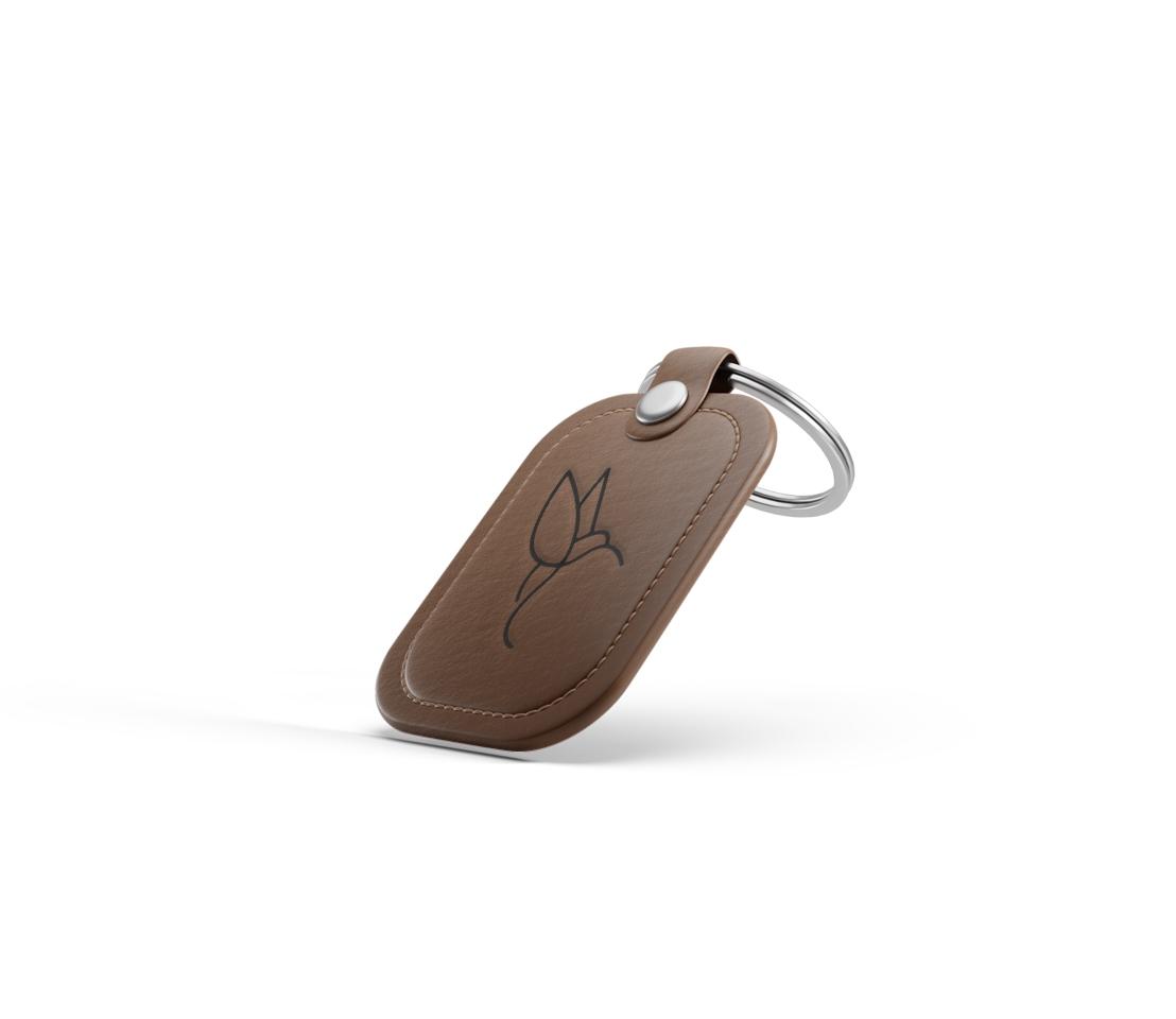 Impression Porte clé cuir metal