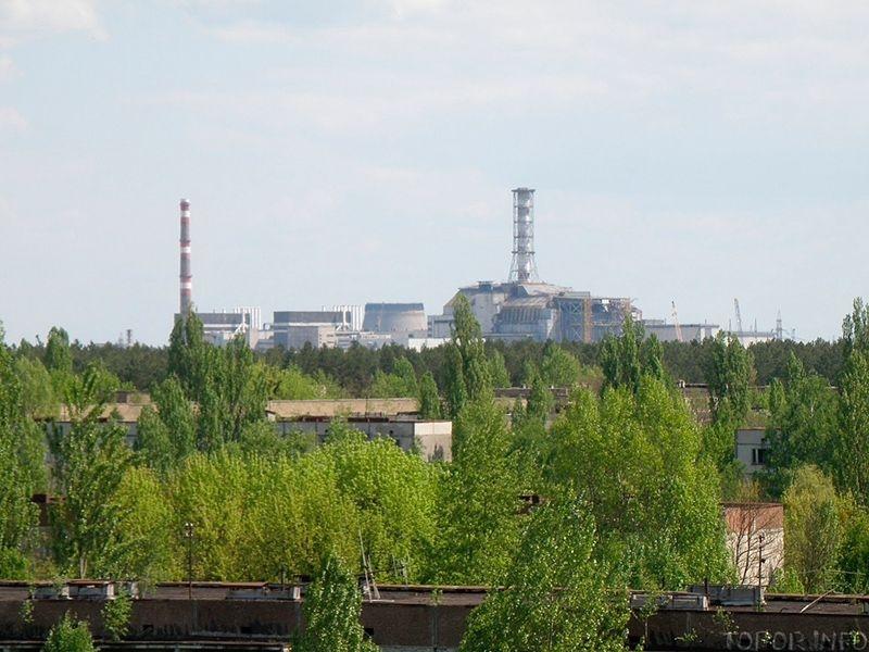 Вид на ЧАЭС