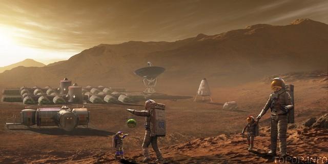 Концепт марсианской колонии