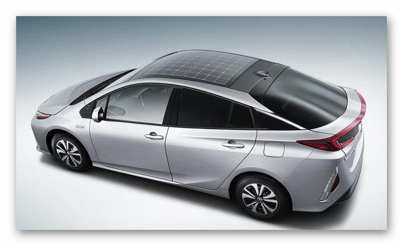 Toyota Prius с солнечной крышей