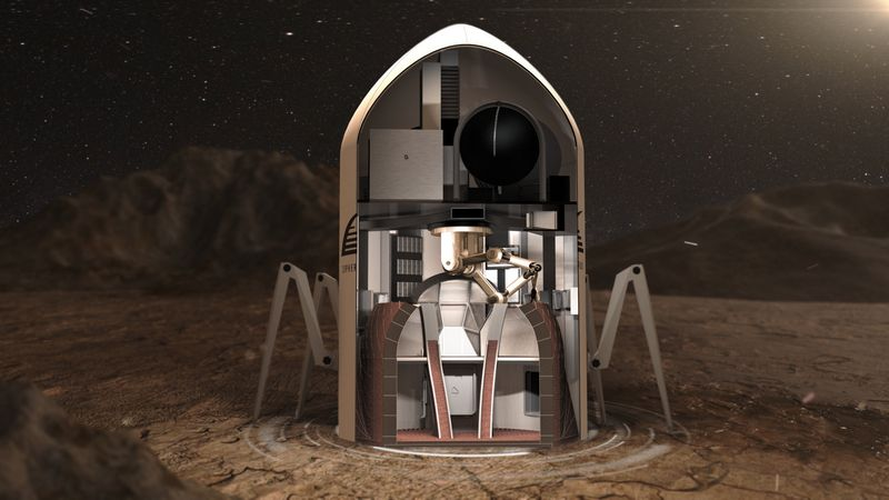 Печать жилого модуля на Марсе