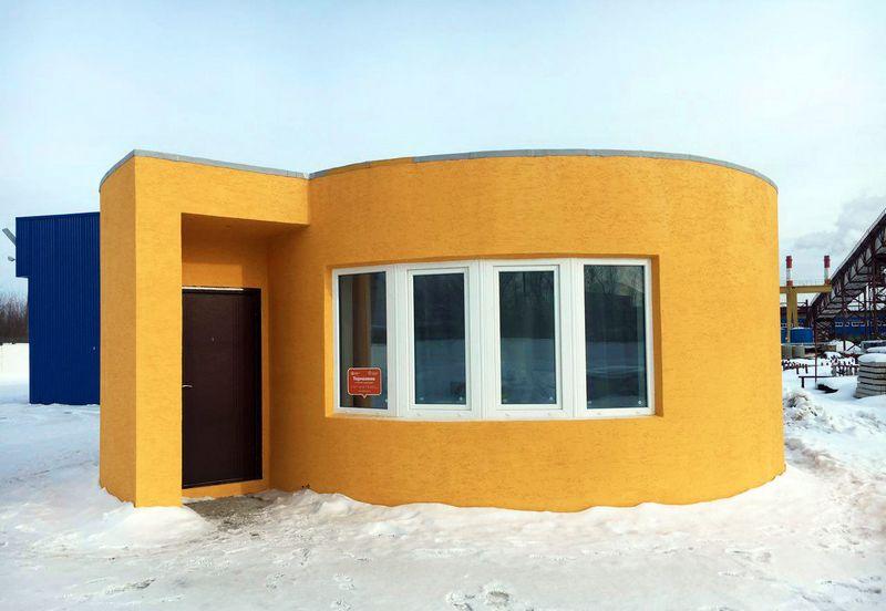 Дом, распечатанный на 3D-принтере