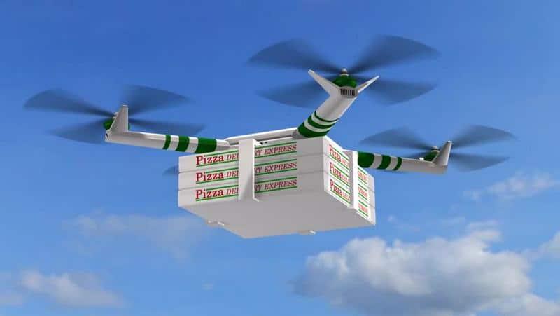 Доставка пиццы дроном