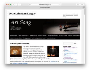 Art Song home page