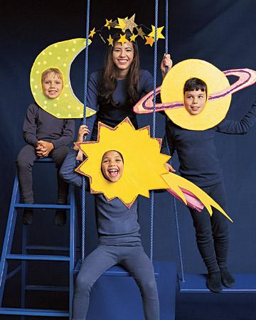 面具行星,星星,月亮