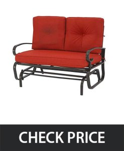 Incbruce Outdoor Rocking Loveseat Seat