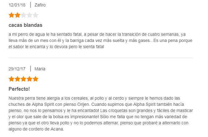 Pienso alpha spirit: opiniones