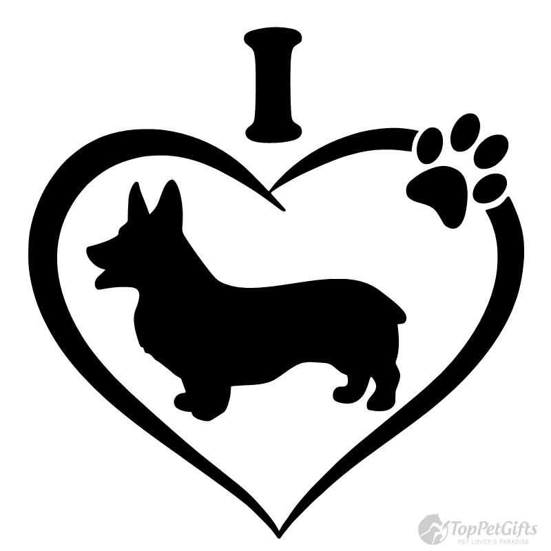 Download I Love My Corgi Decal - Top Pet Gifts