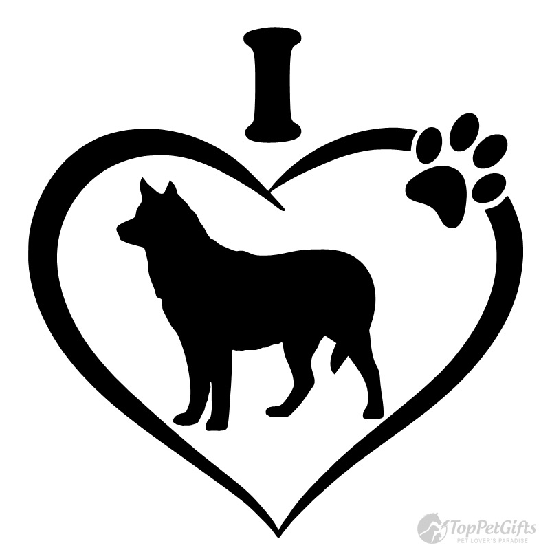 Download I Love My Husky Decal - Top Pet Gifts