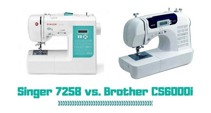 Singer 7258 vs. Brother CS6000i (What Is The Best Sewing Machine?)