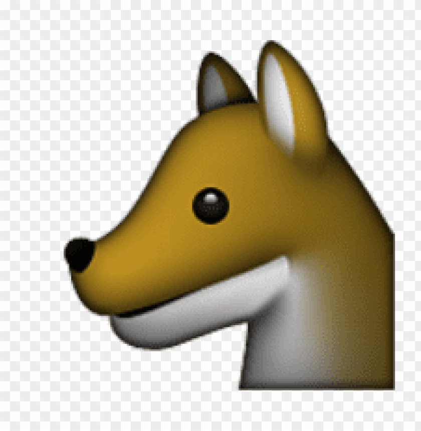 Download Ios Emoji Wolf Face Clipart Png Photo Toppng